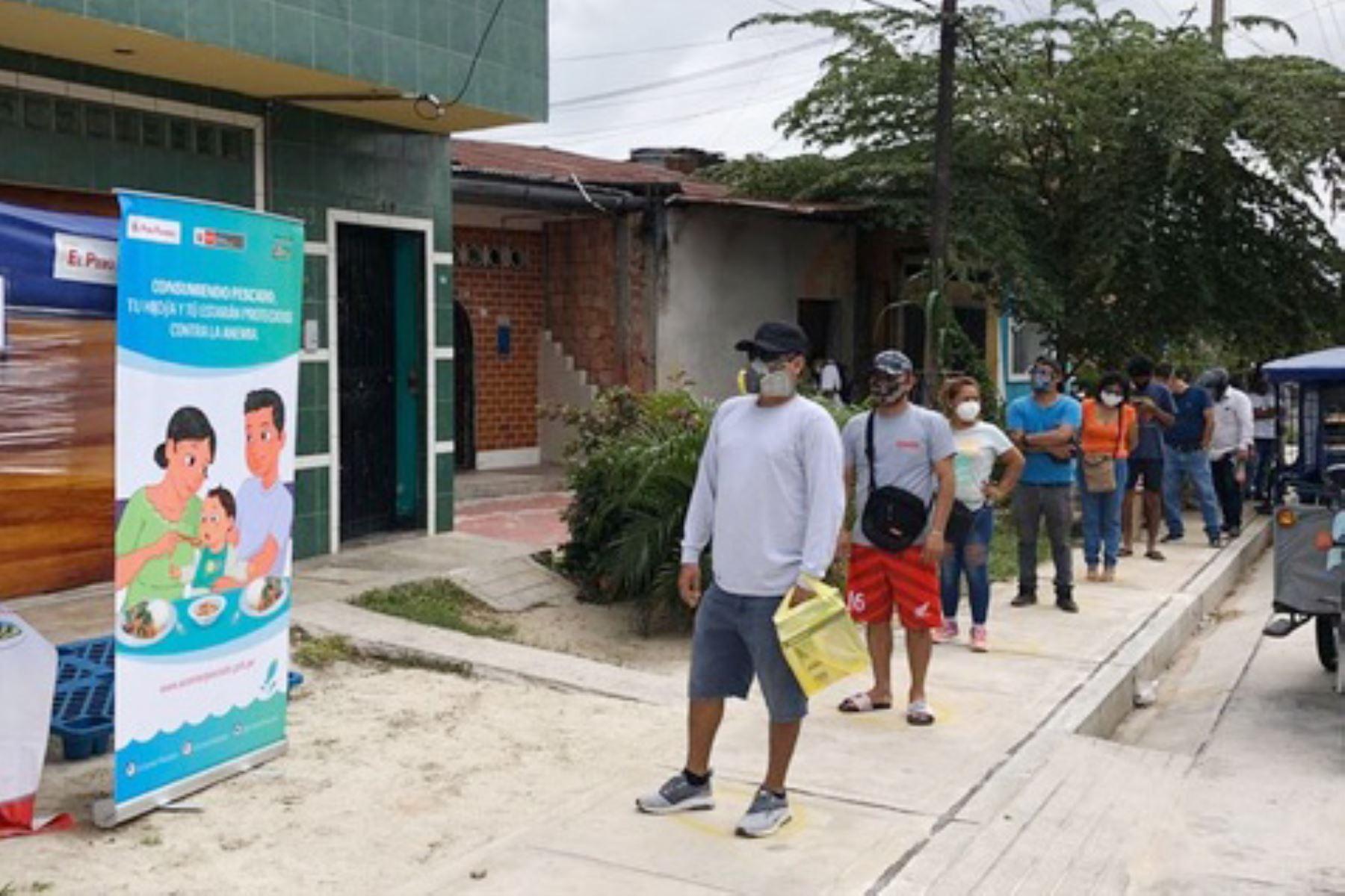 Programa «A Comer Pescado» colocó 2 toneladas de gamitana y sábalo en Loreto